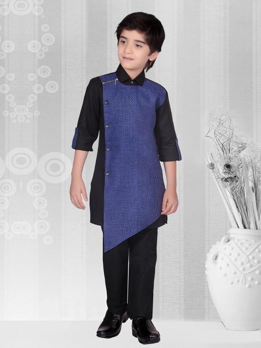 Blue Color Solid Cotton Kurta Suit