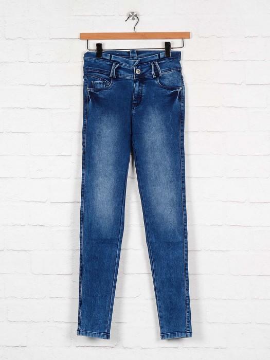 Blue Hue Washed Regular Slim Fit Jeans