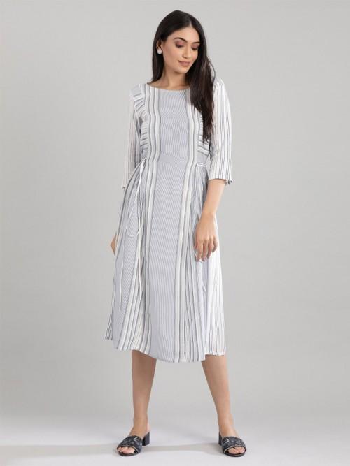 Blue Stripe Style Cotton Kurti Design