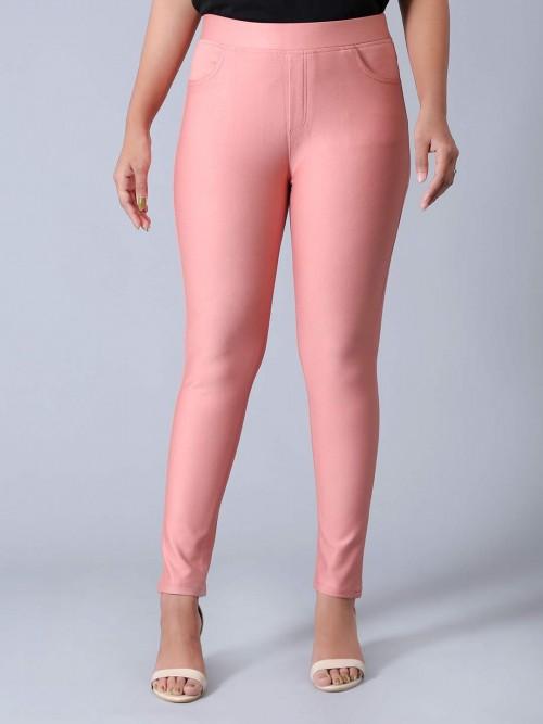 Boom Powder Pink Cotton Jeggings