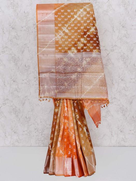 Brown Color Banarasi Silk Saree