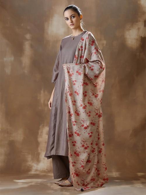 Brown Designer Cotton Festival Salwar Suits