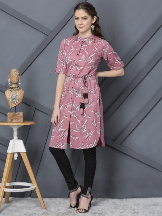 Casual Wear Printed Pattern Cotton Kurti