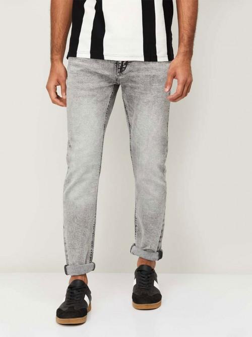 Celio Grey Washed Style Denim Jeans