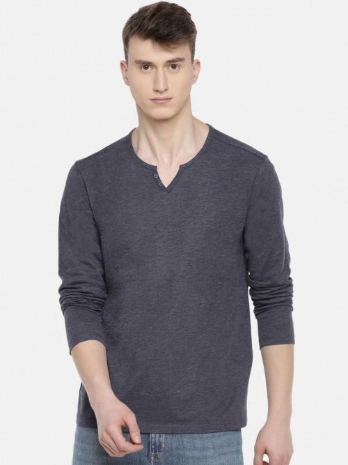 Celio Presented Dark Grey Solid T-shirt