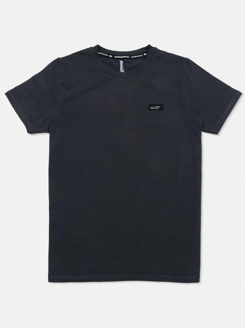 Chopstick Dark Grey Solid Mens T-shirt