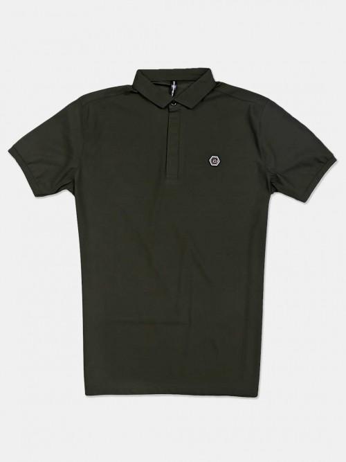 Chopstick Olive Solid Cotton T-shirt