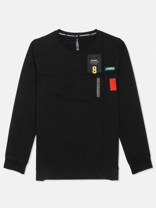 Chopstick Solid Black Mens T-shirt