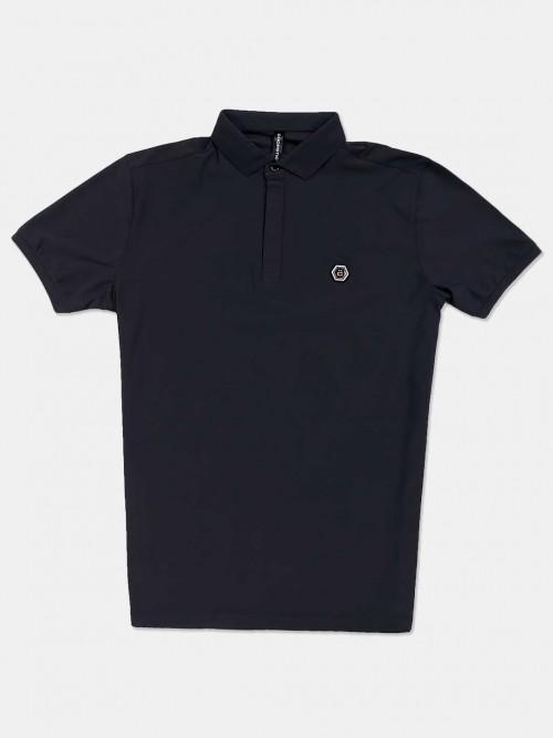 Chopstick Solid Dark Grey Polo T-shirt
