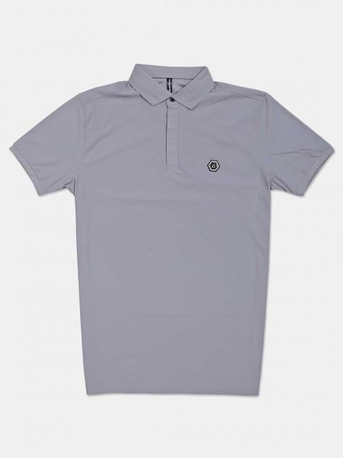 Chopstick Solid Grey Polo T-shirt