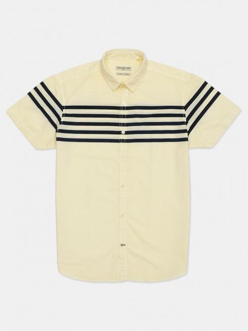 Copperstone Stripe Lemon Yellow Casual Shirt