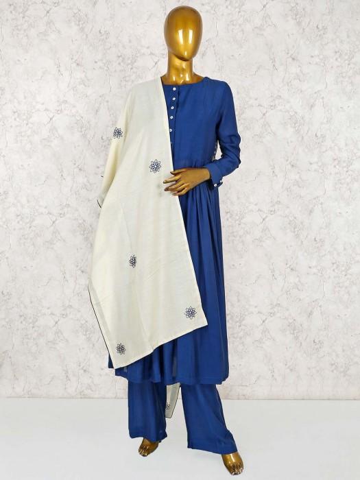 Cotton Blue Punjabi Salwar Suit