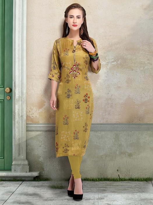 Cotton Silk Fabric Green Hue Punjabi Salwar Suit