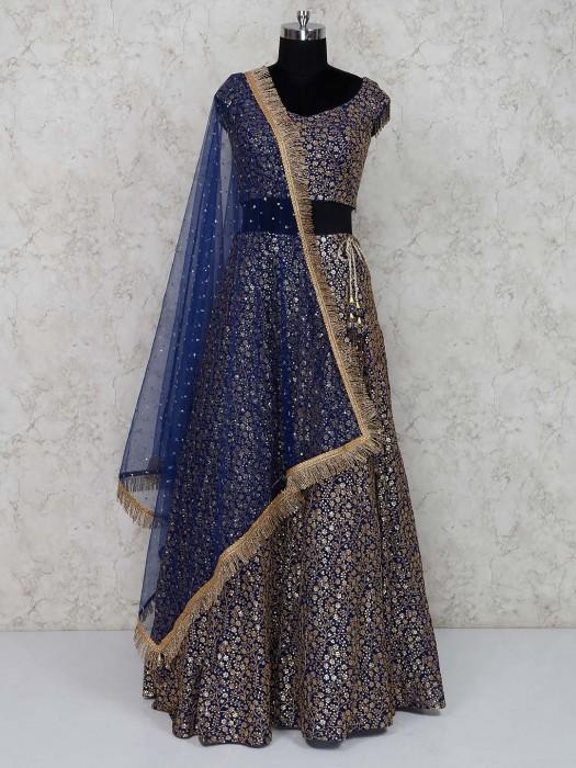 Cotton Silk Pretty Wedding Lehenga Choli