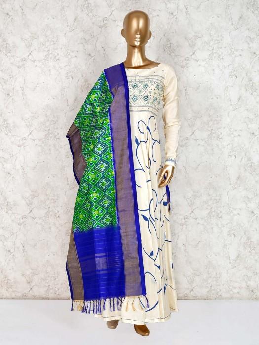 Cream Floor Length Cotton Party Wear Salwar Suit