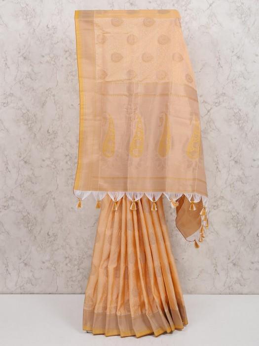 Cream Hue Cotton Silk Saree