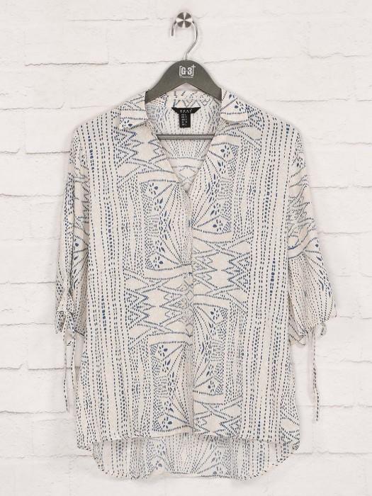 Deal Beige Cotton Collar Neck Top