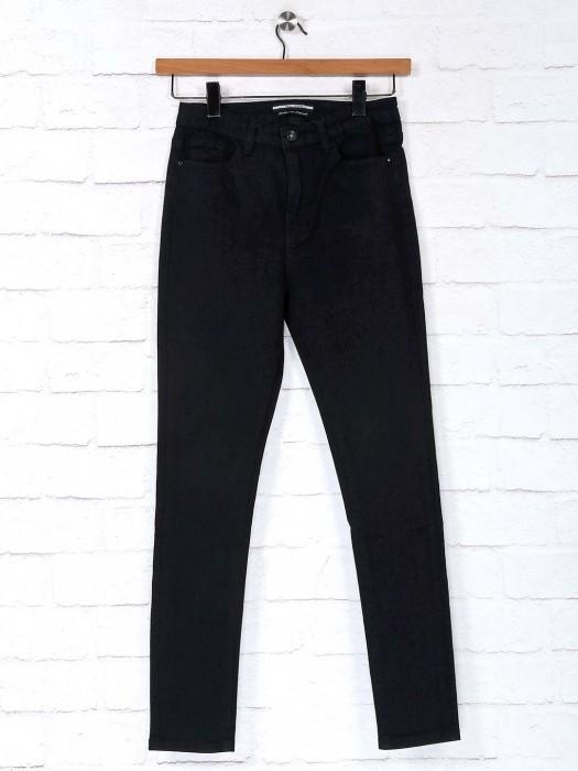 Deal Black Solid Denim Casual Wear Jeans