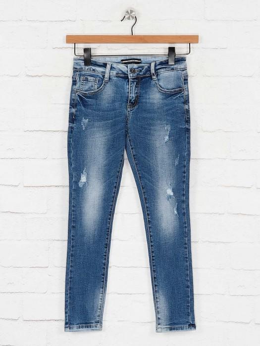 Deal Blue Hue Washed Casual Wear Denim Jeans