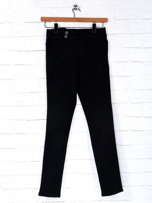 Deal Cotton Casual Wear Black Jeggings