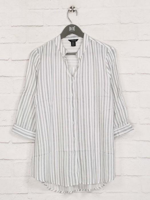Deal Grey Stripe Casual Wear Top