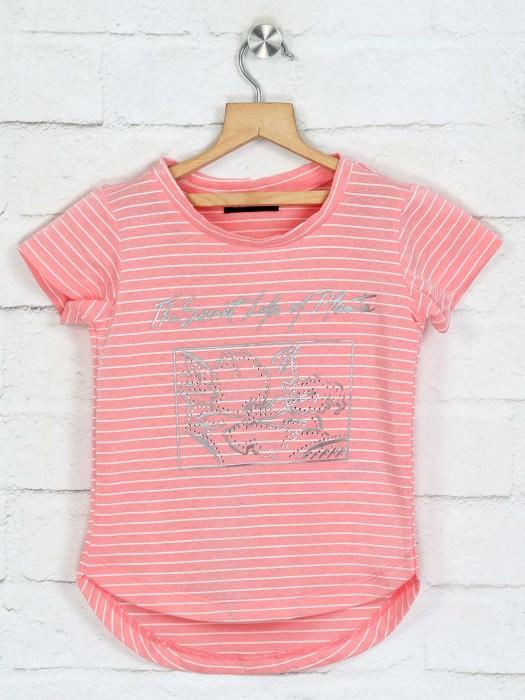 Deal Peach Stripe Design Top