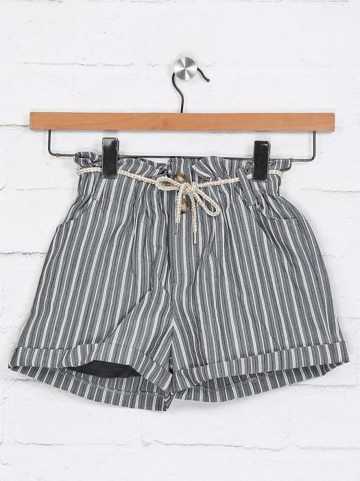 Deal Presented Stripe Grey Shorts