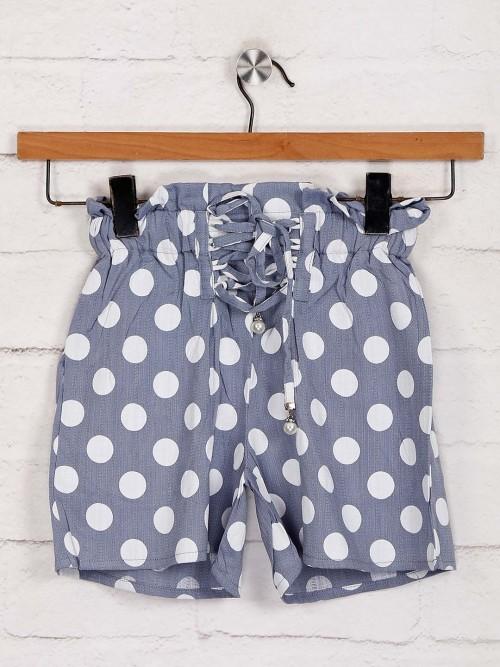 Deal Printed Grey Cotton Shorts
