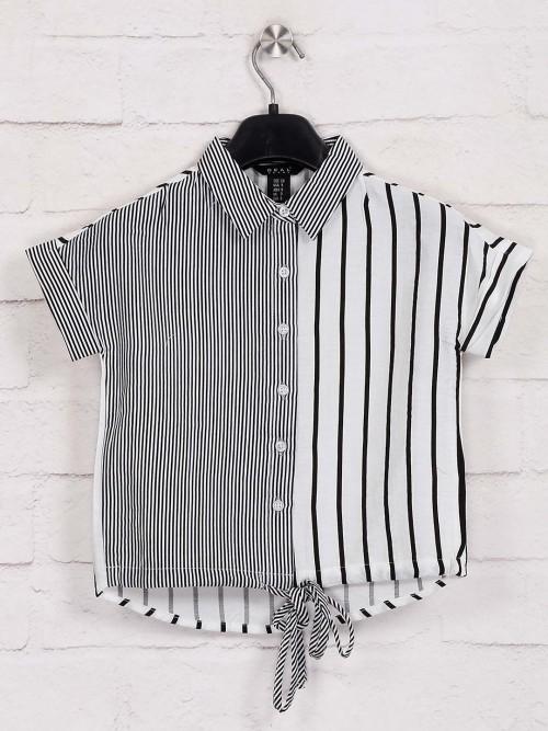 Deal White Stripe Cotton Top