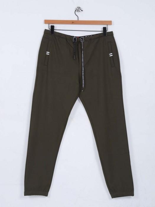 Deepee Olive Nerrow Track Pant