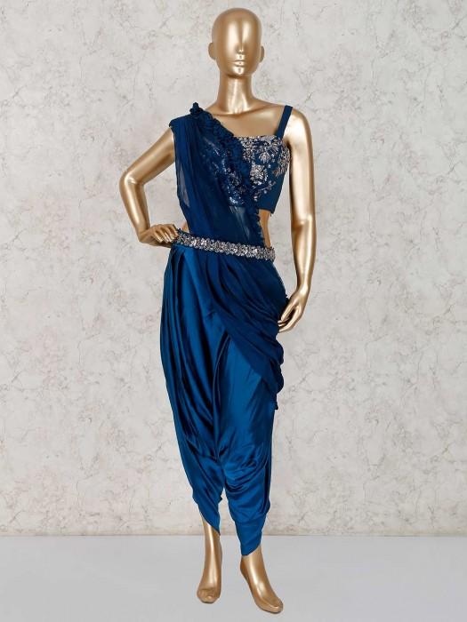 Designer Party Wear Satin Dhoti Suit