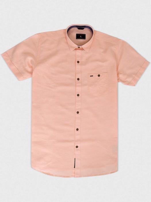 EQIQ Pink Colored Simple Shirt