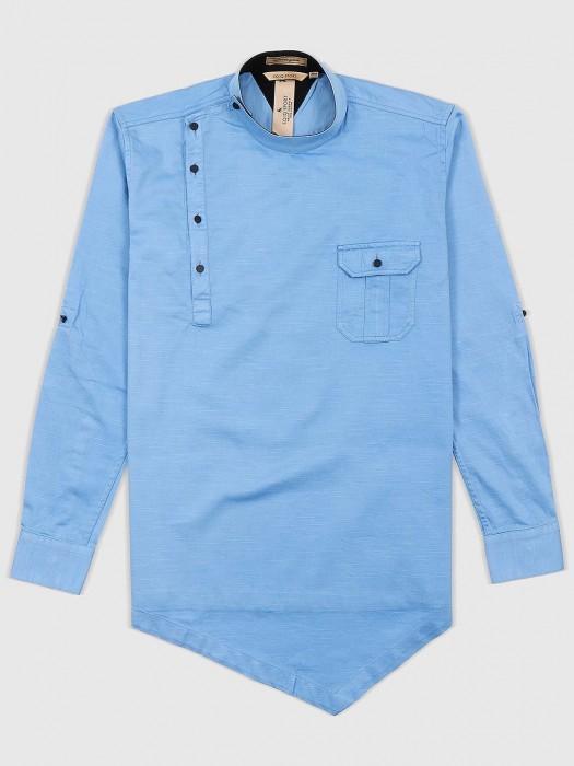 EQIQ Sky Blue Color Designer Shirt