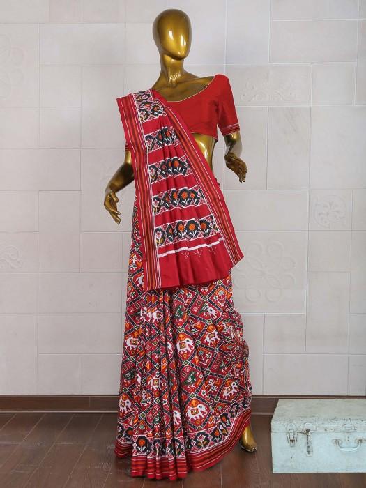 Exclusive Maroon Color Saree In Patola