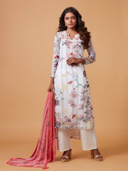Festive Wear Printed Pattern Punjabi Salwar Suit