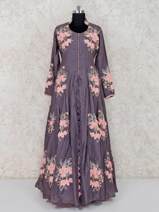 Floor Length Designer Party Wear Anarkali Leheng Suit