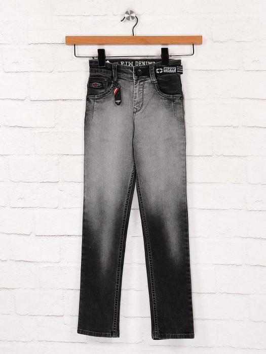 Forway Black Denim Washed Effect Jeans