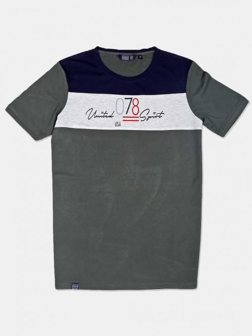 Freeze Casual Wear Dark Grey Cotton T-shirt