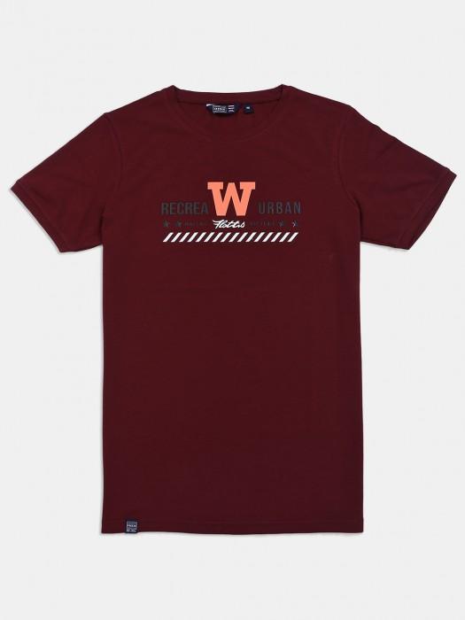 Freeze Wine Maroon Printed T-shirt