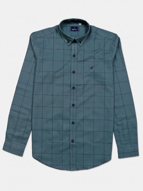 Frio Cotton Green Checks Shirt