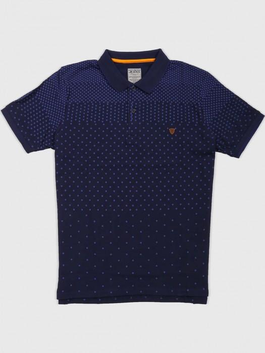 Fritzberg Navy Cotton Fabric T-shirt