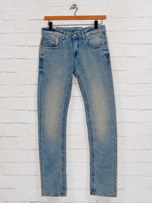 Gesture Washed Blue Slim Fit Jeans