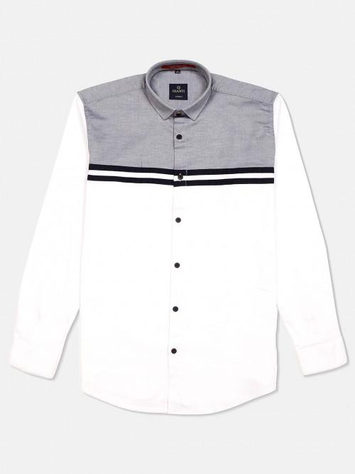 Gianti Solid White Full Sleeves Shirt