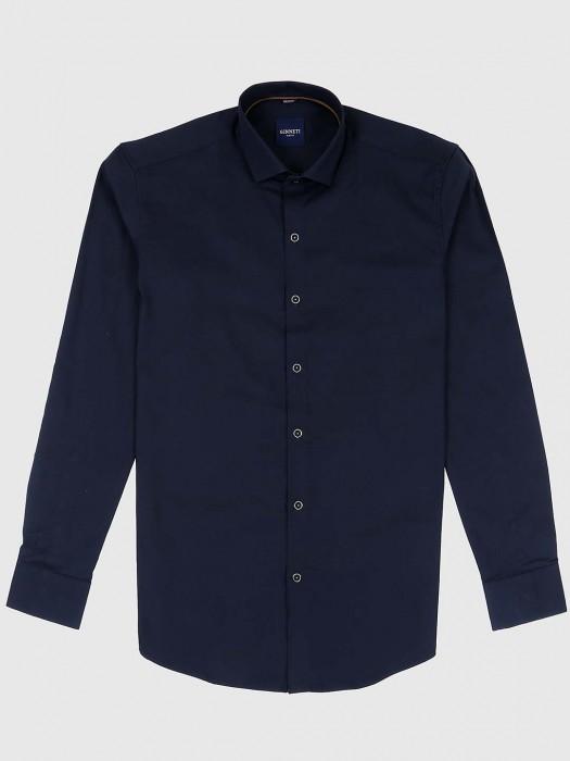 Ginneti Solid Dark Navy Color Mens Shirt