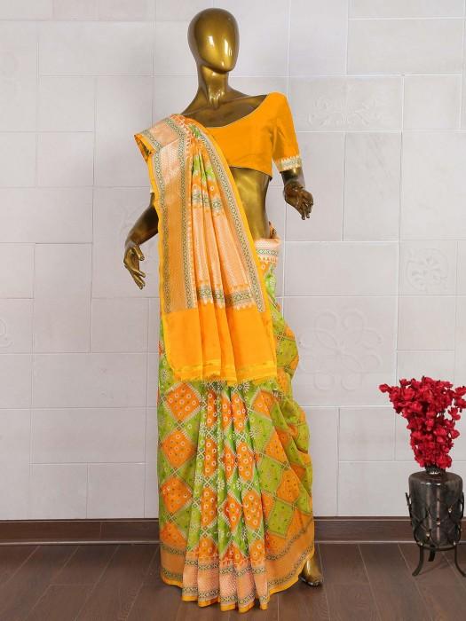 Gorgeous Green Saree In Pure Banarasi Fabric