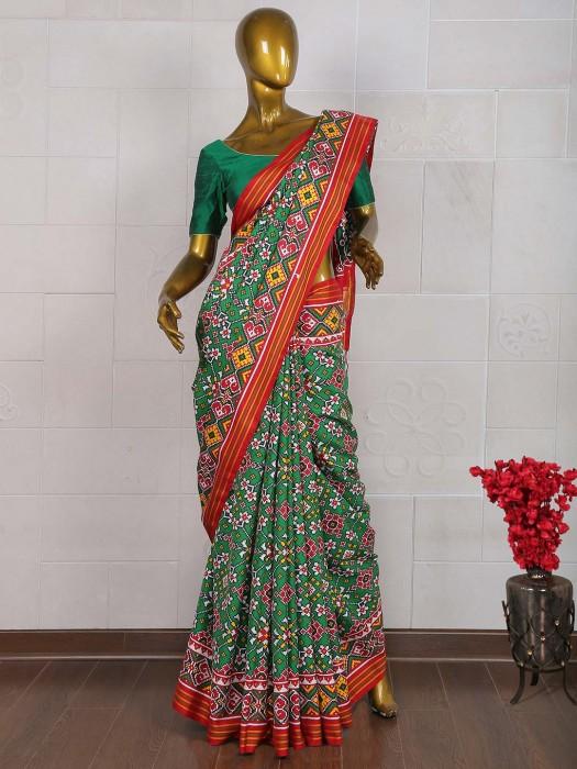 Green Color Wedding Wear Patan Patola Saree