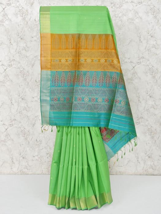 Green South Silk Gorgeous Saree