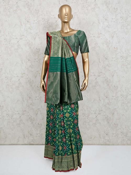 Green Wedding Special Patola Silk