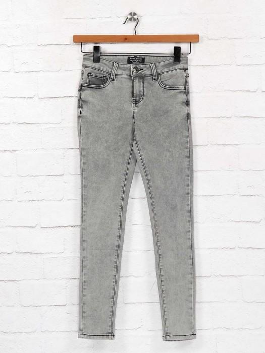 Grey Color Denim Casual Jeans