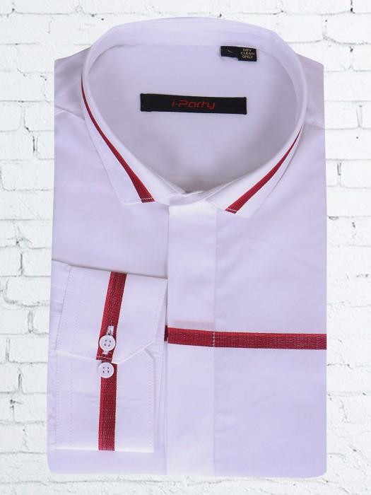 I Party White Cotton Shirt